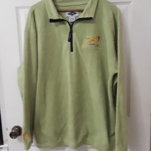 LAL Golden Retriever Club Sz XL  1/4  Zip Green